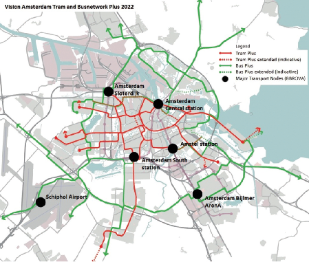Better public transport in Amsterdam to benefit mass transit at