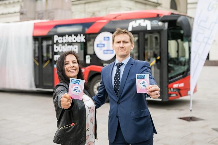 Mrs Gurasovienė, CEO of Susisiekimo Paslaugos and Mr Meškauskas, Deputy director