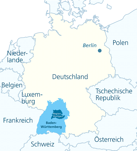 Map showing the region within the country
