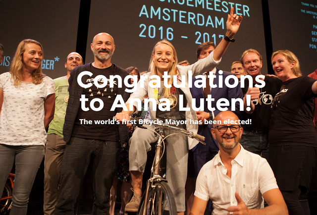 Anna Luten the first Amsterdam Mayor for Cycling