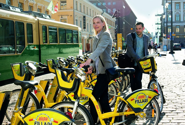Helsinki city bike scheme pedaling to success