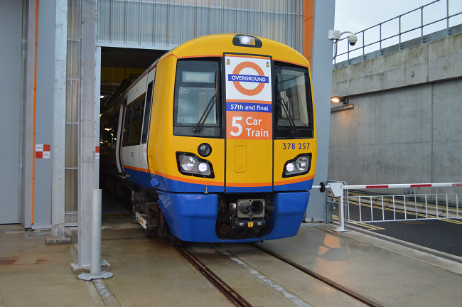 Boost for London Overground passengers as work to increase the capacity of key routes by one quarter is completed