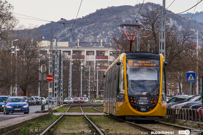 Passenger service is launched on the new interconnected tram network on the Buda side of the Hungarian capital, bringing a major transport development project to a close
