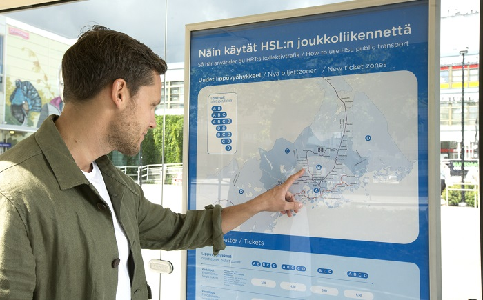 New zone system revolutionizes ticket pricing in the Helsinki region